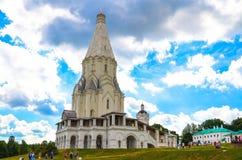 Oude kerk in het Kolomenskoye-landgoed, Moskou, Rusland Stock Foto's