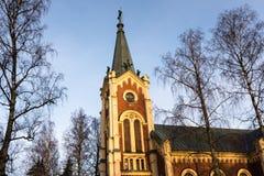 Oude kerk in het ochtendlicht Stock Afbeelding