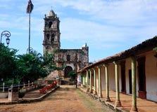 Oude kerk in Kopala in Mexico Royalty-vrije Stock Afbeeldingen