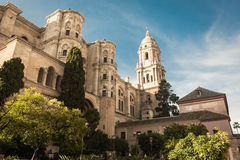 Oude kerk in Malaga Stock Foto's