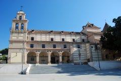 Oude kerk in Malaga, Spanje Stock Afbeeldingen