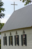 Oude Kerk met Kruis Royalty-vrije Stock Afbeelding