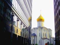 Oude kerk in Moskou Stock Foto's