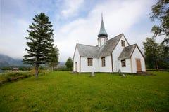 Oude Kerk Noorwegen stock foto