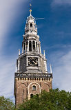 Oude Kerk (old church) in Amsterdam Stock Image
