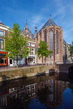 Oude Kerk, Old Church of Delft and Canal Stock Image