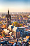 Oude Kerk - the Old Church in Delft, Holland Royalty Free Stock Image