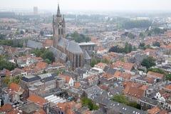 Oude Kerk - Old Church, Delft, Holland Stock Photography