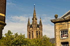 Oude Kerk, the Old Church in Delft, Netherlands Royalty Free Stock Photo