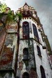 Oude kerk in perspectief Royalty-vrije Stock Foto's