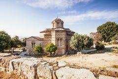 Oude kerk, Plaka-district, Athene, Griekenland Royalty-vrije Stock Afbeelding
