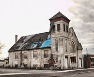 Oude kerk in ruïnes Royalty-vrije Stock Foto