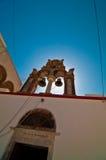 Oude kerk in Santorini Griekenland Stock Afbeelding