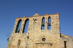 Oude kerk in Spanje royalty-vrije stock afbeeldingen
