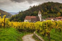 Oude kerk in Spitz, Oostenrijk Royalty-vrije Stock Afbeeldingen