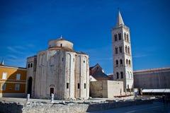 Oude kerk in Stad van Zadar Royalty-vrije Stock Foto's