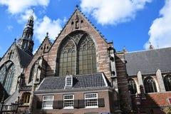 Oude Kerk sur Oudekerksplein à Amsterdam, Hollande, Pays-Bas image libre de droits