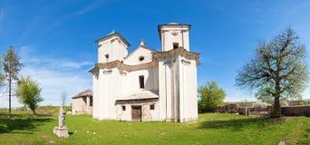 Oude kerk (Sydoriv dorp, Ternopil, de Oekraïne) Stock Afbeeldingen