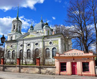 Oude kerk in Tartu-stad, Estland Royalty-vrije Stock Afbeeldingen