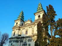 Oude kerk in Ternopil, de Oekraïne Royalty-vrije Stock Foto