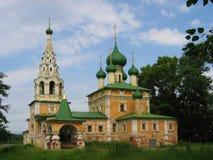 Oude kerk in Uglich, Rusland Royalty-vrije Stock Foto's