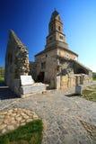 Oude kerk van Densus, Roemenië royalty-vrije stock afbeeldingen