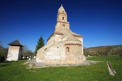Oude kerk van Densus, Roemenië royalty-vrije stock foto's
