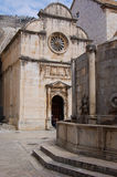 Oude kerk van dubrovnikvesting in Kroatië Royalty-vrije Stock Foto's