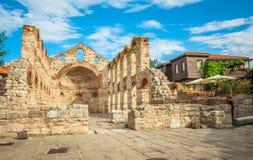 Oude Kerk van Heilige Sofia in de stad van Nessebar Stock Fotografie