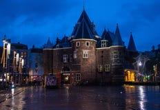 Oude Kerk (vieille église) à Amsterdam Images libres de droits
