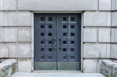 Oude kerkdeuren, Montreal Stock Afbeeldingen