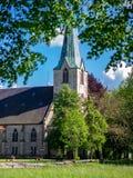 Oude kerkspits in Duitsland Stock Foto