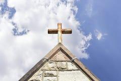 Oude kerktorenspits royalty-vrije stock foto's
