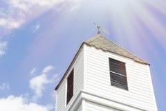 Oude kerktorenspits royalty-vrije stock foto