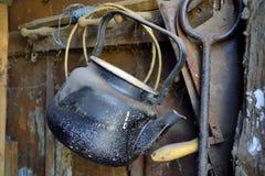 Oude ketel Stock Fotografie