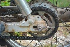 Oude ketting van motorfiets Royalty-vrije Stock Afbeelding