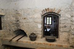 Oude keuken royalty-vrije stock afbeelding