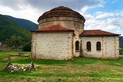 Oude Khan-moskee in Sheki stock foto