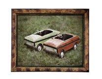 Oude kinderenauto's royalty-vrije stock afbeelding