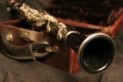 Oude klarinet stock afbeeldingen
