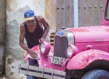 Oude Klassieke Auto in Cuba Royalty-vrije Stock Afbeelding