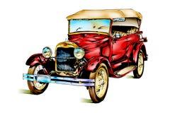 Oude klassieke auto retro wijnoogst Stock Afbeeldingen