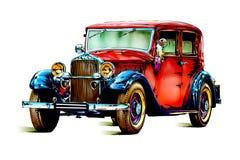 Oude klassieke auto retro wijnoogst Royalty-vrije Stock Afbeeldingen