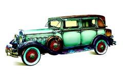 Oude klassieke auto retro wijnoogst Stock Afbeelding