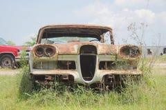 Oude klassieke auto's en vrachtwagens in Dickerson Texas royalty-vrije stock afbeeldingen