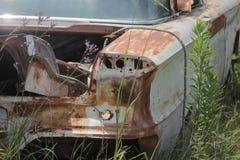 Oude klassieke auto's en vrachtwagens in Dickerson Texas stock foto