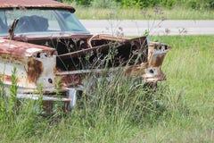Oude klassieke auto's en vrachtwagens in Dickerson Texas royalty-vrije stock fotografie