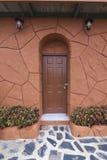 Oude klassieke deur Stock Foto