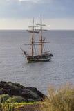 Oude klassieke houten varende boot Royalty-vrije Stock Afbeeldingen