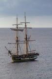 Oude klassieke houten varende boot Royalty-vrije Stock Foto's